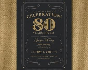 PRINTABLE | 80th Birthday Invitation
