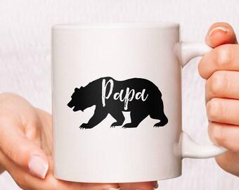 Papa Bear Mug, Camping Mugs, Camping Cups, Custom Camping Mugs, Camping Coffee Mug, Ceramic Camping Mugs, Best Camping Mug