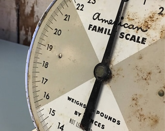 Vintage White Kitchen Scale American Family Scale