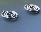 Sterling silver wire spiral stud earrings round post