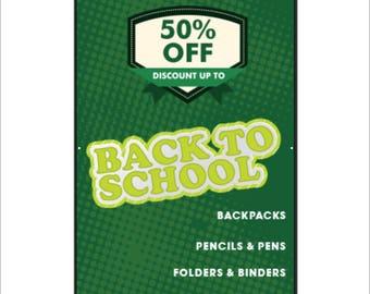 Back to School Vinyl Banner