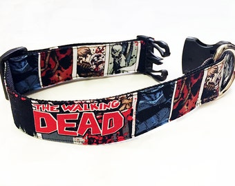 The Walking Dead! Comic Book!- Handmade MARTINGALE or BUCKLE dog collar