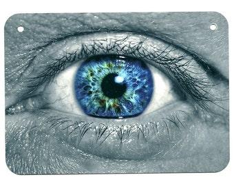 Metal Sign EYEBALL eye human optometry optometrist vision optical creepy cool man cave garage wall decor