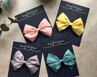 Silky oversized flat bow hair clip Birthday Special occasion Wedding Gift for girls Kids