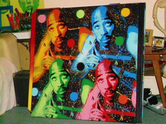 Tupac Shakur Painting 2pac Stencil Art Spray Paint Art 30 By