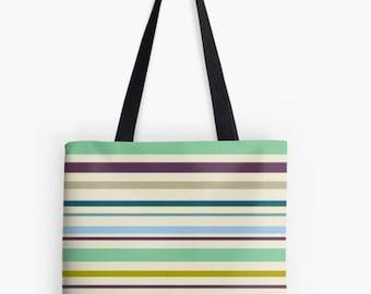 Striped, Beach Bag, Tote Bag, Tote Bags, Shoulder Bag, Tote Shoulder Bag, Stripes, Bag, Tote, Fall, Shoulder Purse, Rainbow