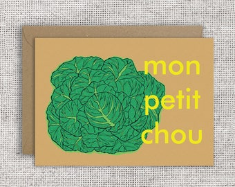 Mon Petit Chou   Valentine card, Love, Valentine's Day, Friendship, French card, L'amour, Anniversary Card, Card for Him, French Valentine