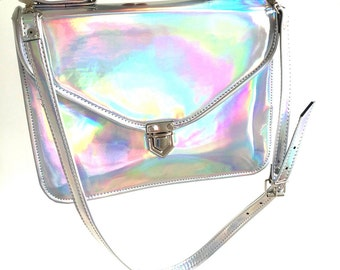 Mady Large Holographic Mirror vegan non-leather crossbody bag (Ready to Ship)