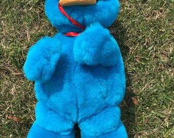 1997 Sesame Street Yum Yum Cookie Monster Talking Plush