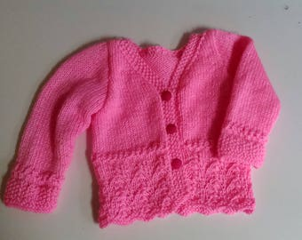 Pink vest lace 3 months baby birth gift