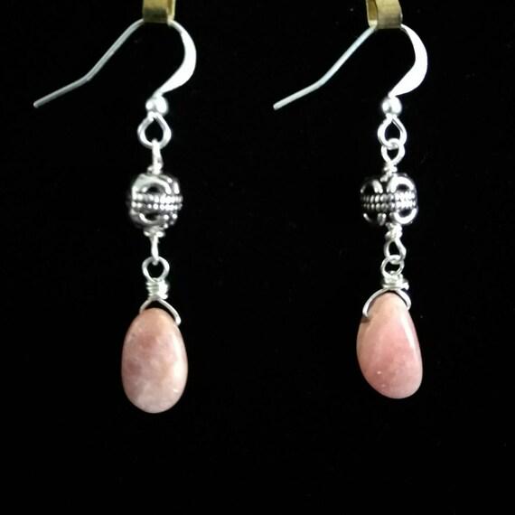 Rhodocrosite Dangle Earrings E6151762