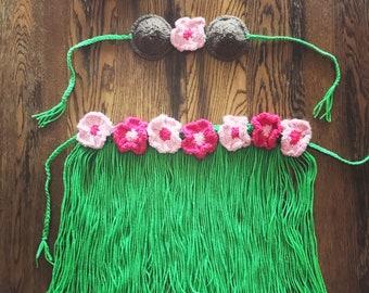 Hula Girl Photo Set