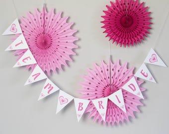 Team Bride Bunting // Hen Party Decoration // Bridal Shower Banner // Team Bride Banner // Wedding Bunting