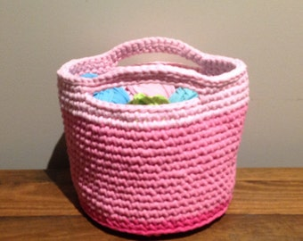 Crochet Storage basket, Handmade Basket, Crochet Storage
