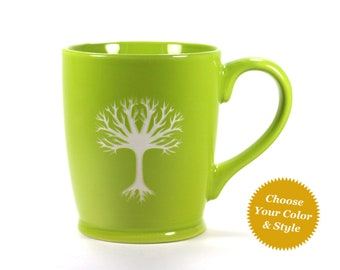 Tree Mug - Choose Your Cup Color