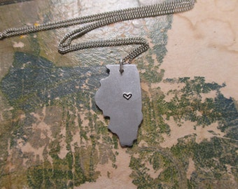 The Joyce Necklace - Illinois Love Pendant Necklace or Key Chain