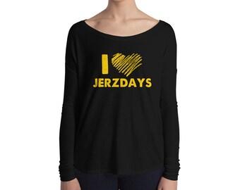 I LOVE JERZDAYS Jersey Shore Ladies' Long Sleeve Tee