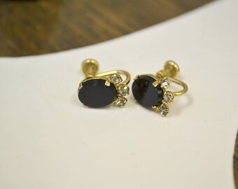 1960s Curtis/dce Gold Filled Screw Back Earrings