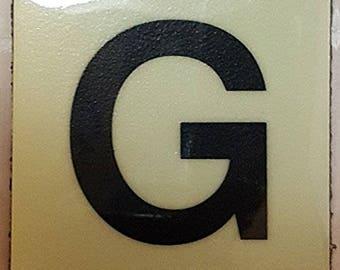 """Photoluminescent Door Identification Number G Sign Heavy Duty / Glow In The Dark """"Door Number"""" Sign Heavy Duty (Aluminum Sign 1.5 X 1.5)"""