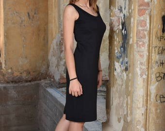 Black Tank Dress, Summer Dress, Sun Dress, Casual Dress, Ladies Dress, Oversized Dress, Minimalist Dress, Sleeveless Dress, Urban Clothing