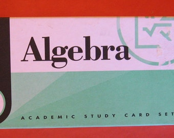 Algebra Academic Study Card Set by Visual Education