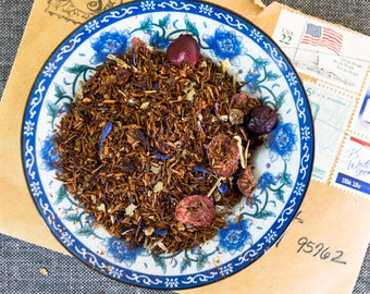 Herbal Tea / Blueberry Herbal Tea / Blueberry Herbal Rooibos / Loose Leaf Tea  / BLUEBERRY MOON Herbal Rooibos