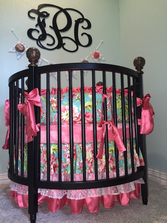 Round Crib Beddinground Crib Sets For Girls Round Baby