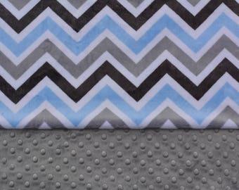 Minky Baby Blanket, Personalized Baby Blanket, Shower Gift, Double Minky Blanket
