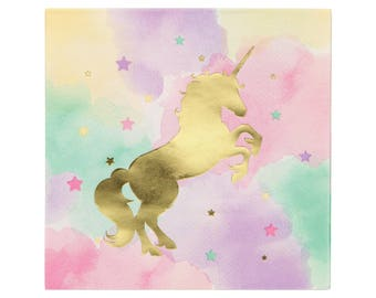 Unicorn Luncheon Napkins - Unicorn Party Napkins, Unicorn Birthday Napkins, Unicorn Party Supplies, Unicorn Party Decorations, Unicorn Decor