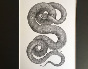 Dotwork Snake - Old Style