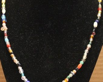 Small Mixed Random Glass Bead Necklace