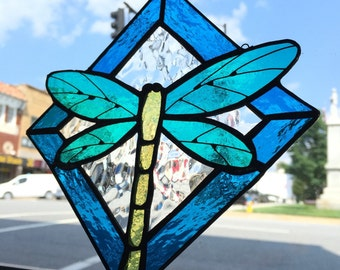 Dragonfly Stained Glass Sun Catcher