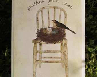 Feather Your Nest Birthday Card - FREE SHIPPING