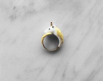 Unicorn Ring Yellow, Original Design.
