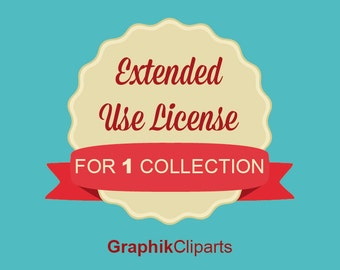 Extended Use License for 1 COLLECTION . Extended License for Commercial Use. Commercial No Credit License.