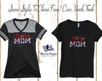 SALE!,Baseball Mom Shirt,Rhinestone Baseball Mom,Baseball Mom,Rhinestone Baseball Mom T,Rhinestone Baseball Varsity Shirt, Baseball Mom Tank