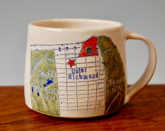 Outer Richmond - San Francisco Map Mug