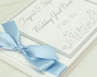 Personalised Emma Floral Wedding Guest Book