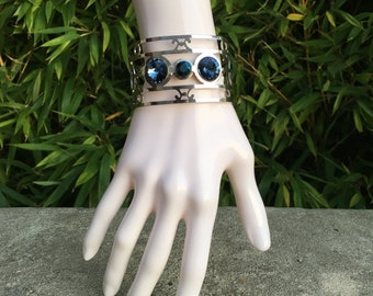 Swarovski Crystal ethnic Cuff Bracelet