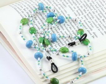 Turquoise Eyeglass Holder Blue Lanyard Green Eyeglass Lanyard White Sunglass Lanyard Southwest Eyeglass Necklace Lime Eyeglass Leash