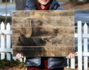 Pet Gift • Photo to Wood • Reclaimed Wood Wall Art • Dog Gift Personalized • Pet Mom • Custom Pet Photo on Reclaimed Wood