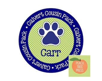 Heat Press Design {Cousin Pack Paw Print Lime Gingham}