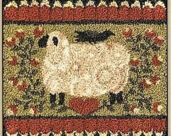 Punch Needle Pattern, My Shepherd, Primitive Decor, Farmhouse Decor, Sheep, Crow, Heart, Teresa Kogut, Punch Needle Embroidery, PATTERN ONLY
