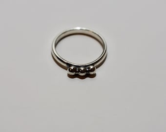Sterling Silver Rings, Balls Ring, Silver Rings, Silver Ring, Ring, Rings, made in USA