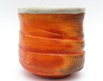 Orange, Speckled Gray, White Cup - Yunomi