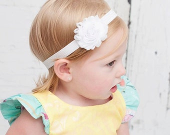 Pink or YOU CHOOSE COLOR Shabby Headband Shabby chic Headband Baby headband, newborn headband