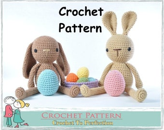 Amigurumi Pattern Bunny Amigurumi Crochet Pattern Crochet Amigurumi Pattern Crochet Easter Pattern Amigurumi Easter Bunny Eggs Pattern Toys
