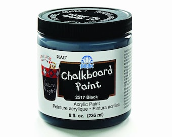 FolkArt Chalkboard Paint Assorted Colors - Black, True Blue, Gray, Hot Pink, Purple  (8-Ounce) U.S.A. Seller with Fast Shipping