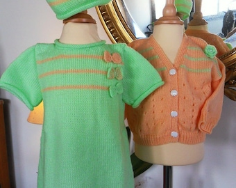 """Girl dress """"A Sunday at the edge of the Lake"""" 3 piece set"""