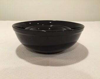 Vintage Black Nesting Bowls
